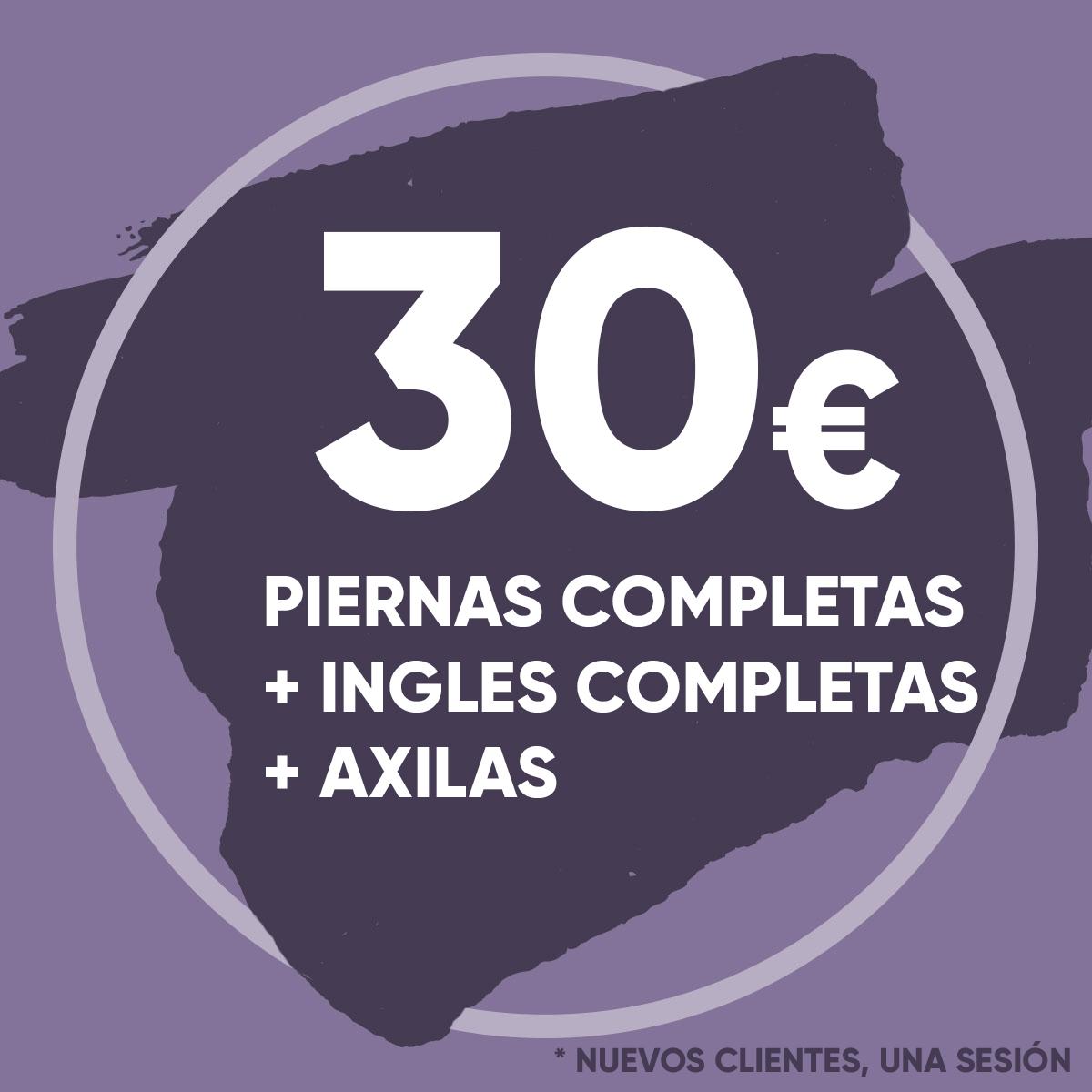 Depilación Láser Piernas Completas, Ingles Completas y Axilas